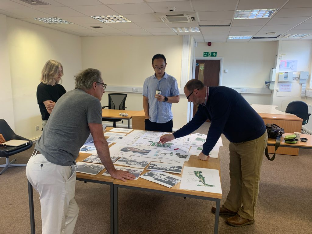 Design team looking at plans